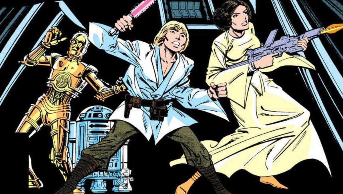 The cover to Star Wars 21 by Carmine Infantino and Terry Austin
