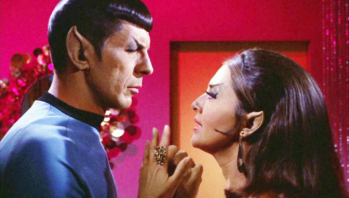 Joanne Linville and Leonard Nimoy in Star Trek