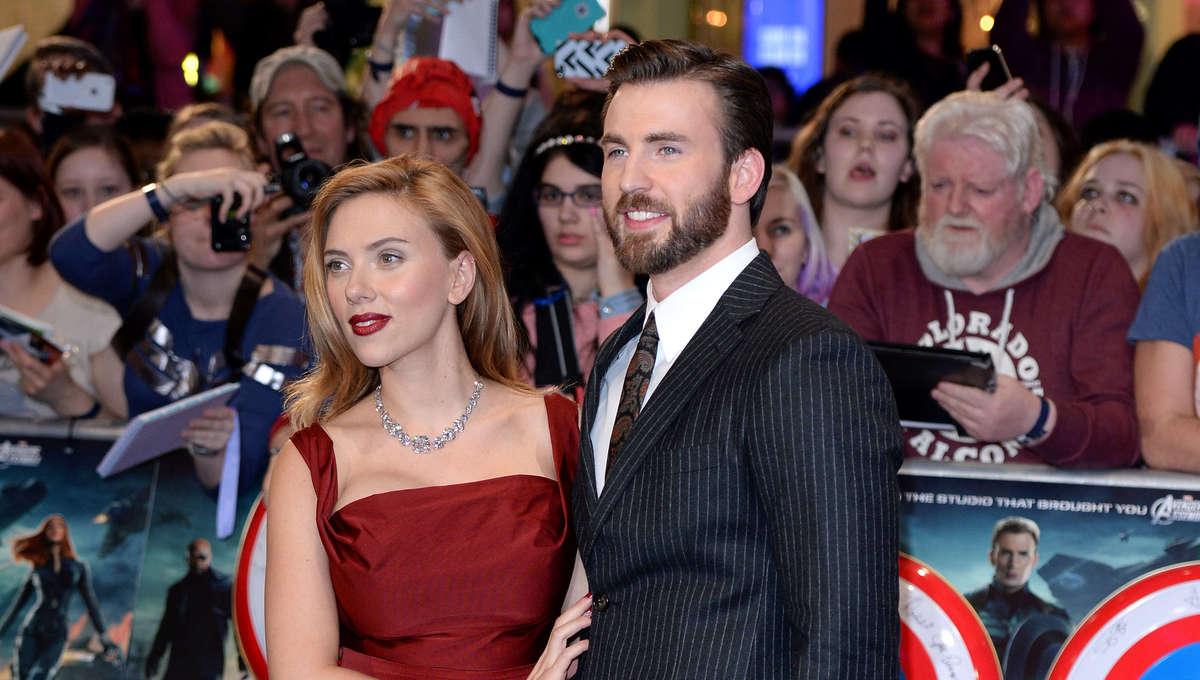 Getty Chris Evans Scarlett Johansson