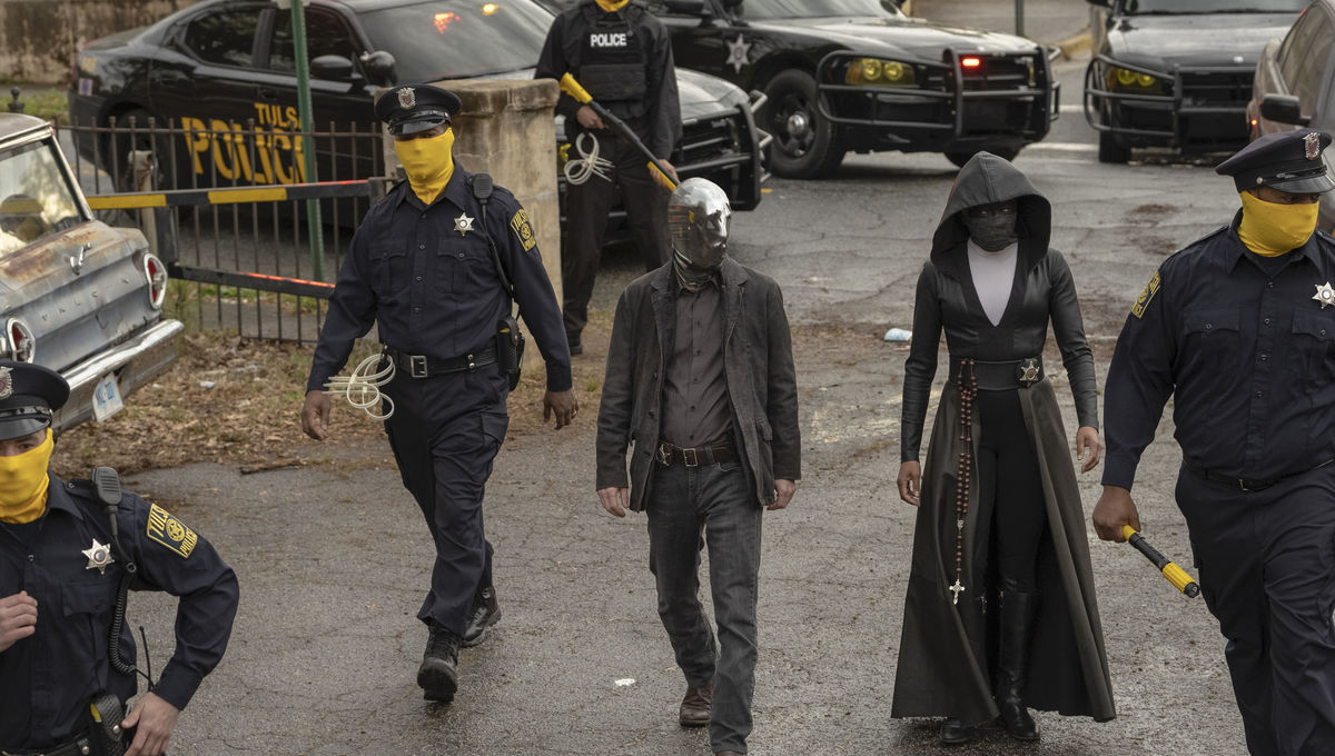 Tim Blake Nelson and Regina King in HBO's Watchmen