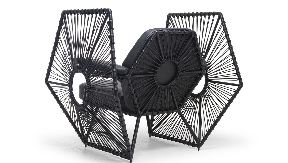 Imperial Wings Easy Armchair black angled back