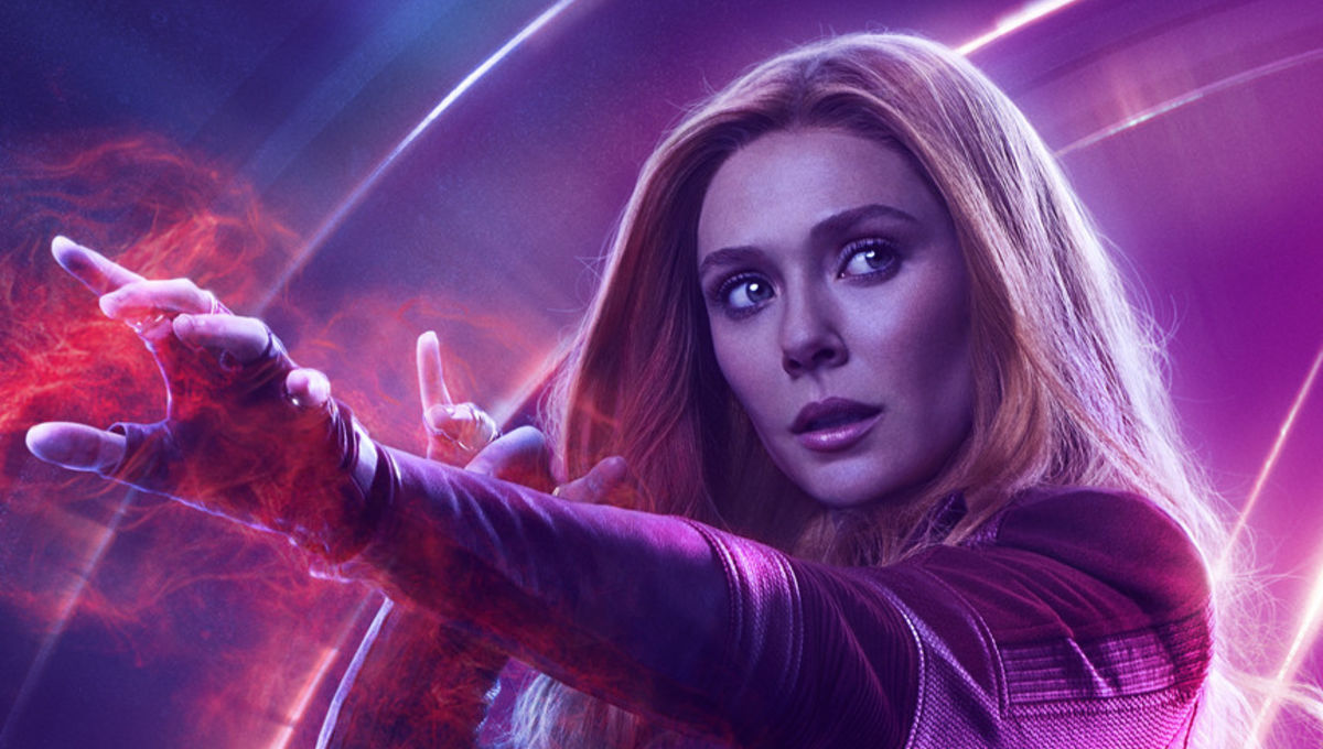 Avengers: Infinity Wars character poster - Elizabeth Olsen as Scarlet Witch