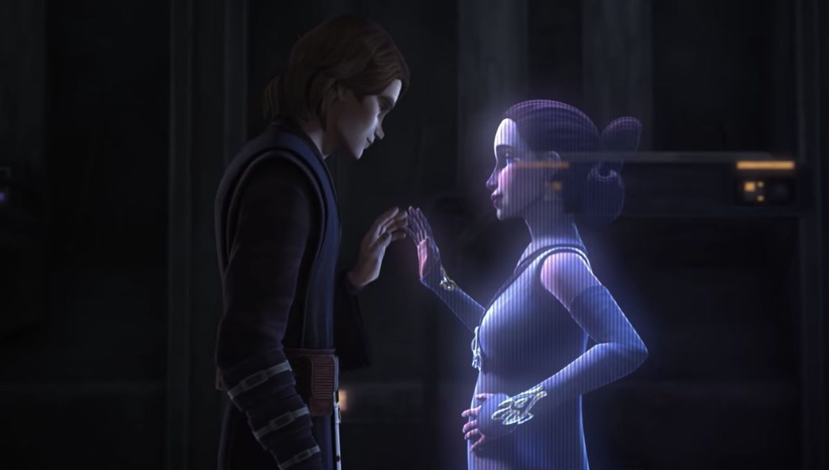 Anakin and Padme in Star Wars The Clone Wars
