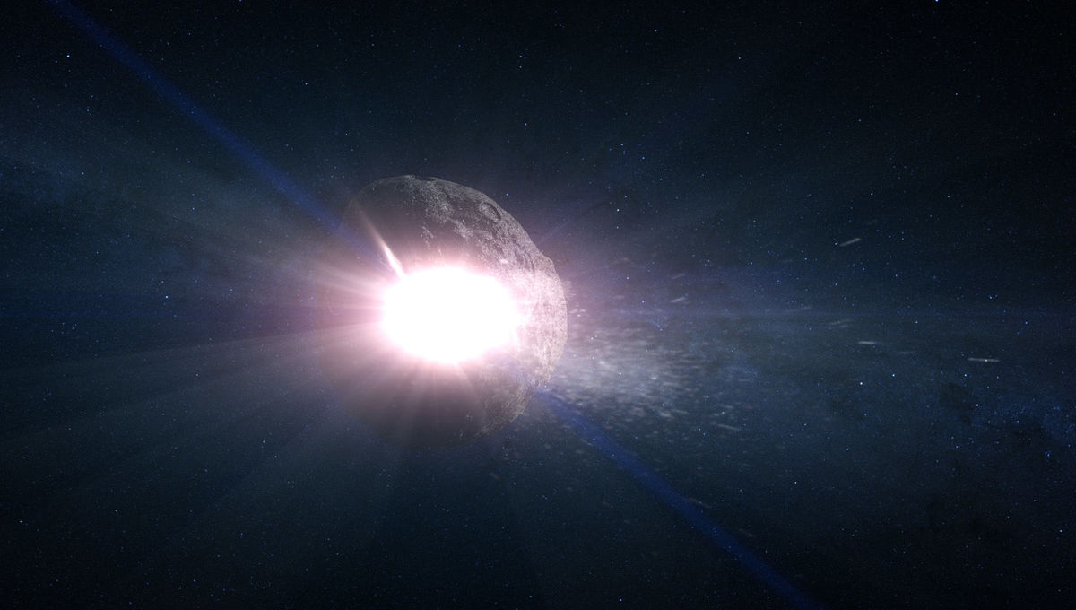 In the asteroid belt, collisions between big rocks can have big consequences, even here on Earth. Credit: NASA's Goddard Space Flight Center Conceptual Image Lab