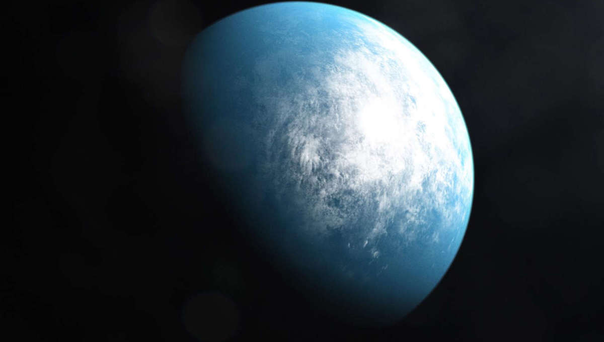 Artwork depicting the exoplanet TOI-70d a possibly Earth-like planet about 100 light years away. Credit: NASA / GSFC