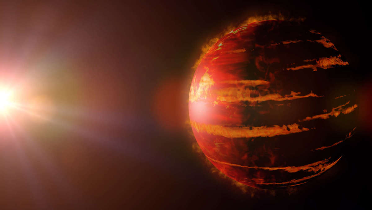 Artwork depicting a hot, young, gas giant exoplanet still in the process of formation. Credit: dottedhippo / iStock / Getty Images Plus