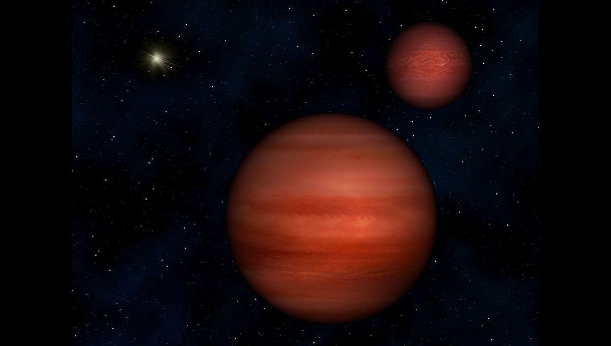 Artwork depicting a binary brown dwarf system. Credit: Janella Williams, Penn State University