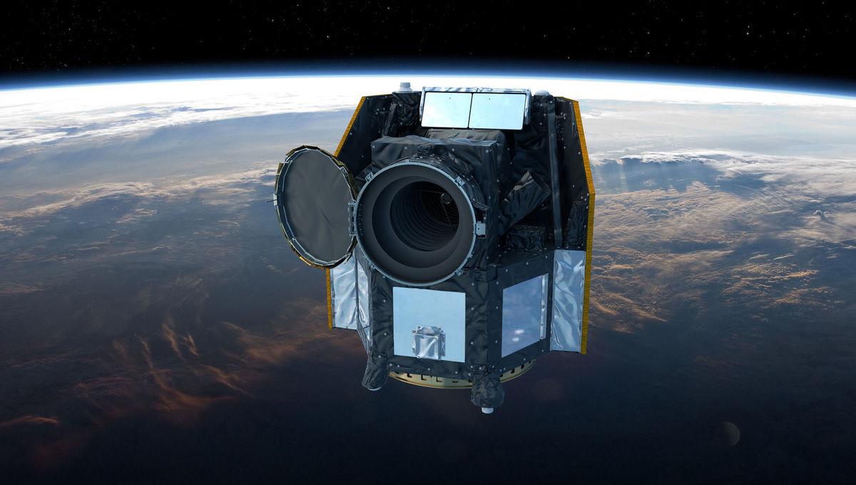 Artwork depicting CHEOPS in orbit around the Earth. Credit: ESA / ATG medialab