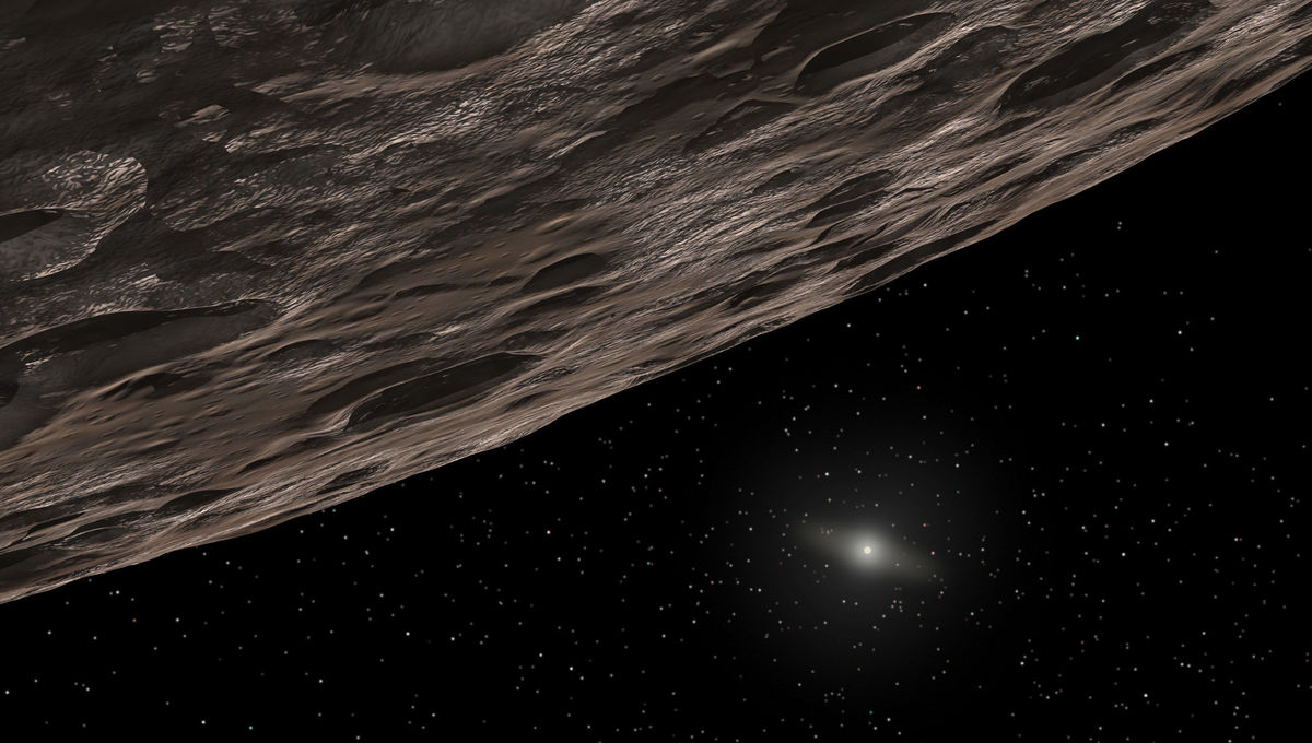 Artwork depicting a Kuiper Belt Object far beyond Neptune. Credit: ASA/ESA/G. Bacon (STScI)