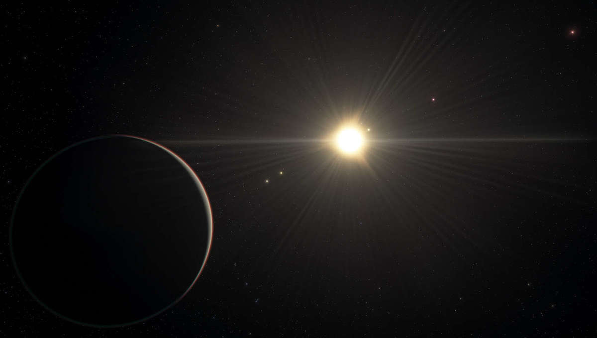 Artwork depicting the six-planet system orbiting the star TOI-178. Credit: ESO/L. Calçada/spaceengine.org
