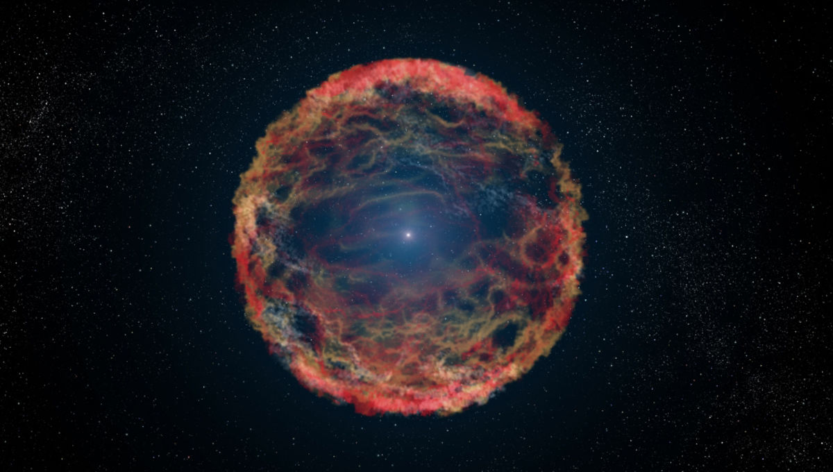 An artist's depiction of a supernova event. Credit: NASA/ESA/G. Bacon (STSci)