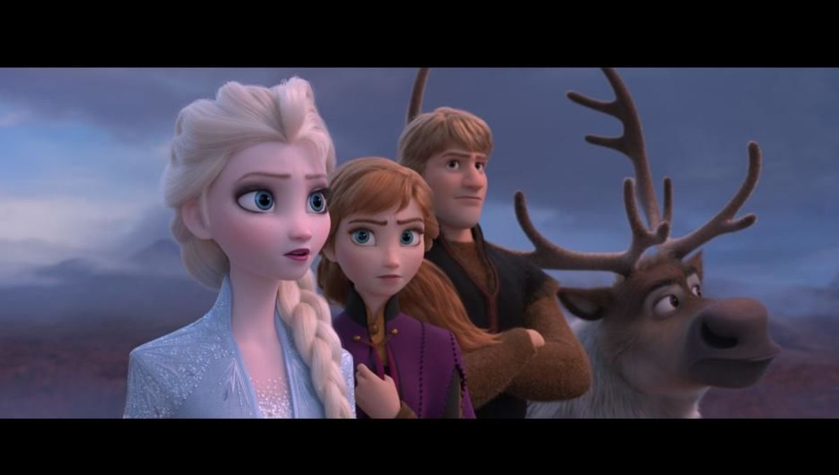 Anna, Elsa, Christof, and Sven are featured in a Frozen II publicity still