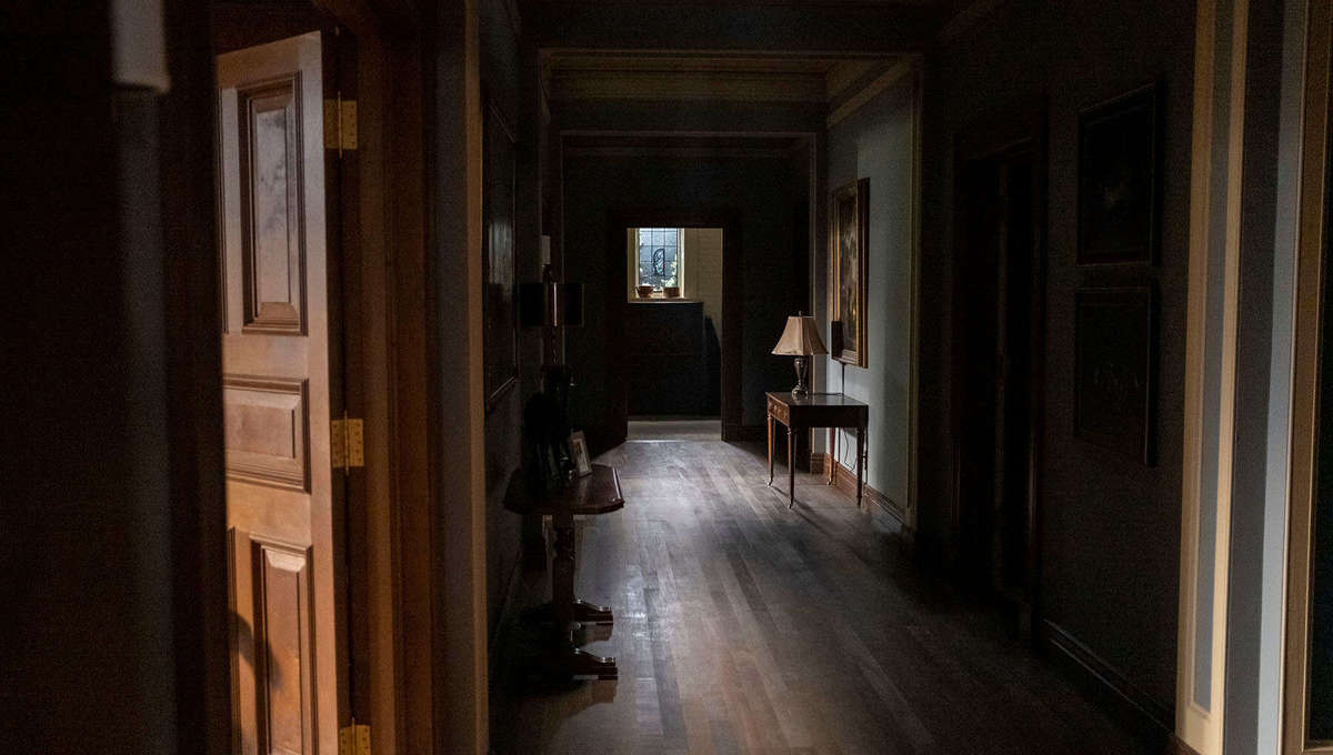A dark corridor in The Haunting of Bly Manor at Netflix