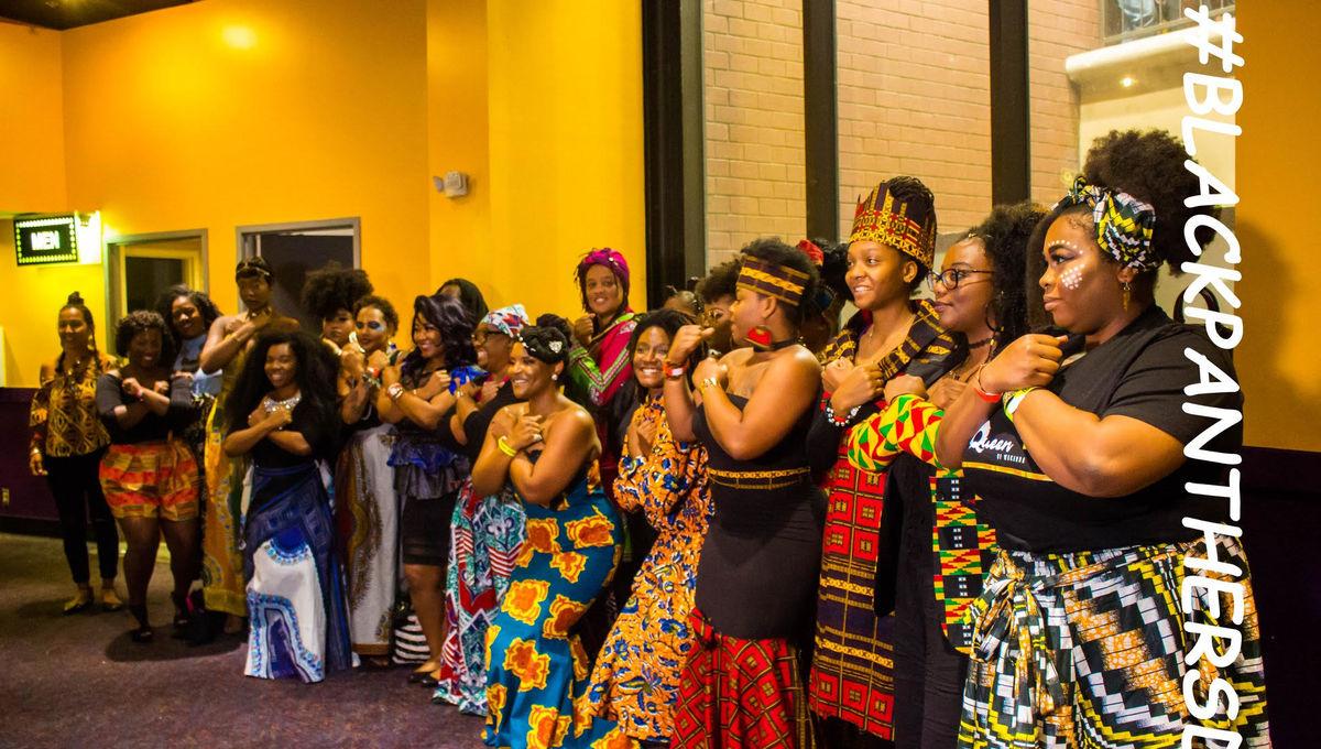 Black AF Black Panther viewing party