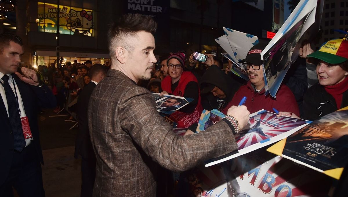 Colin Farrell Greets Fans at Dumbo World Premiere