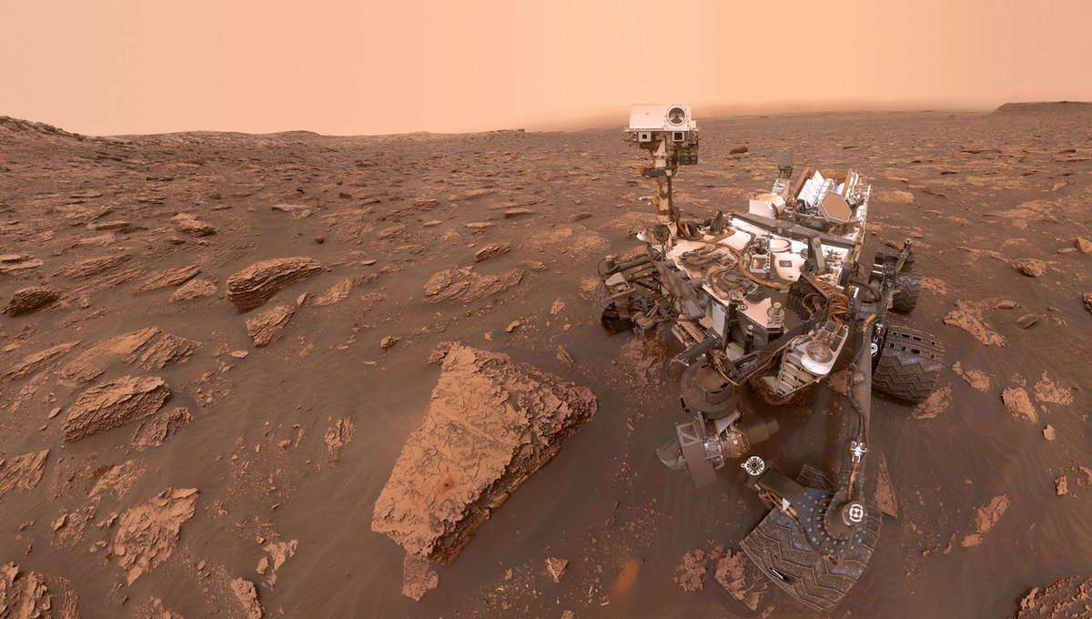 Curiosity took this self-portrait during a global dust storm on June 16, 2018. Credit: NASA/JPL-Caltech