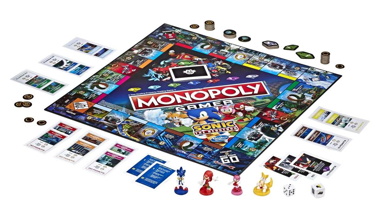 Sonic Monopoly board