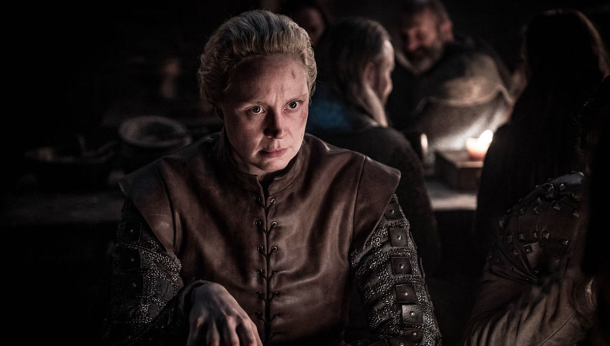 Gwendoline Christie as Brienne in Game of Thrones on HBO