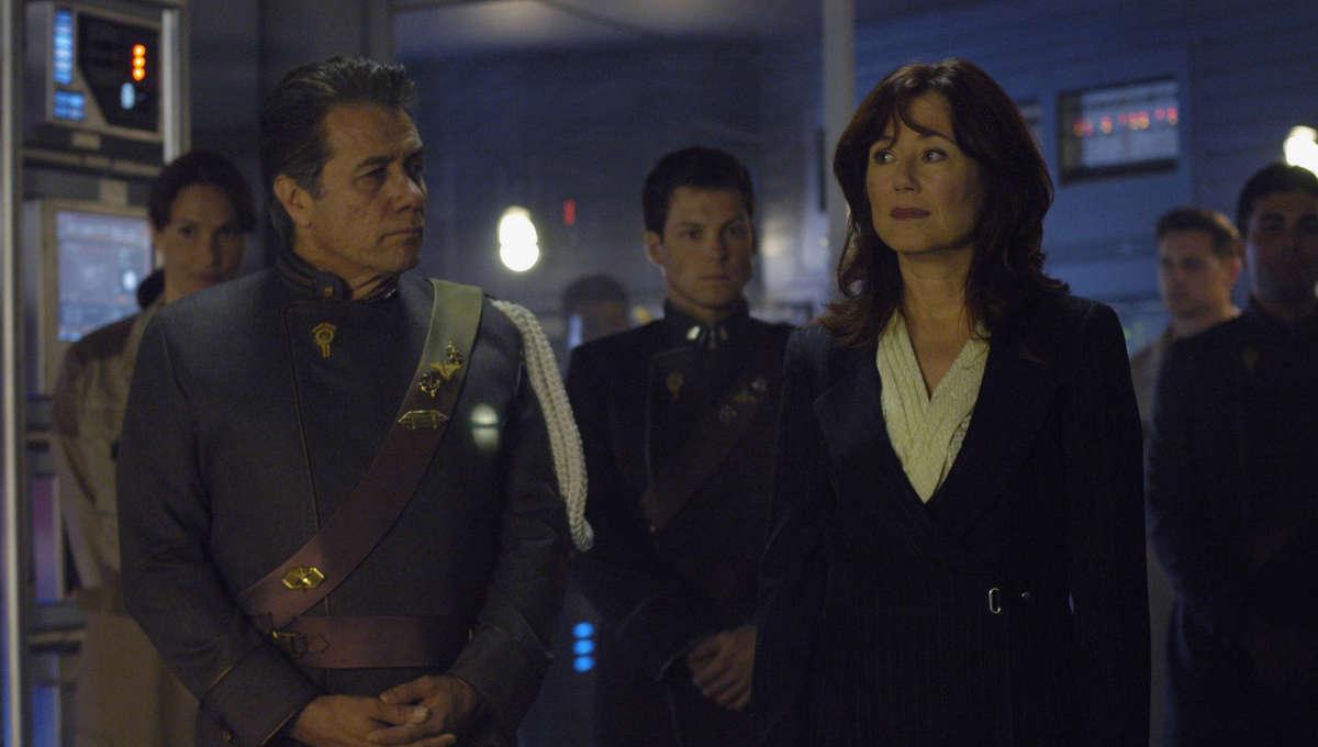 Battlestar Galactica Edward James Olmos and Mary McDonnell