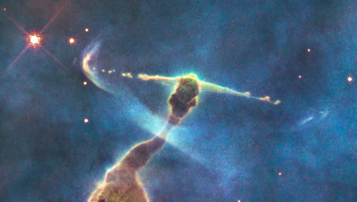 Detail of young stars still forming in the Carina Nebula. Credit: NASA, ESA, M. Livio and the Hubble 20th Anniversary Team (STScI)