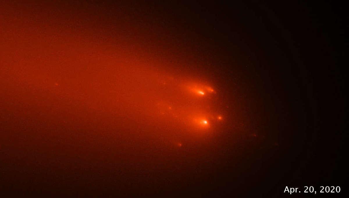 Comet C/2019 Y4 (ATLAS) observed by Hubble