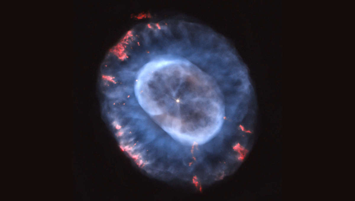 Hubble's view of the planetary nebula NGC 7662. Credit: NASA, ESA, and A. Hajian (University of Waterloo)