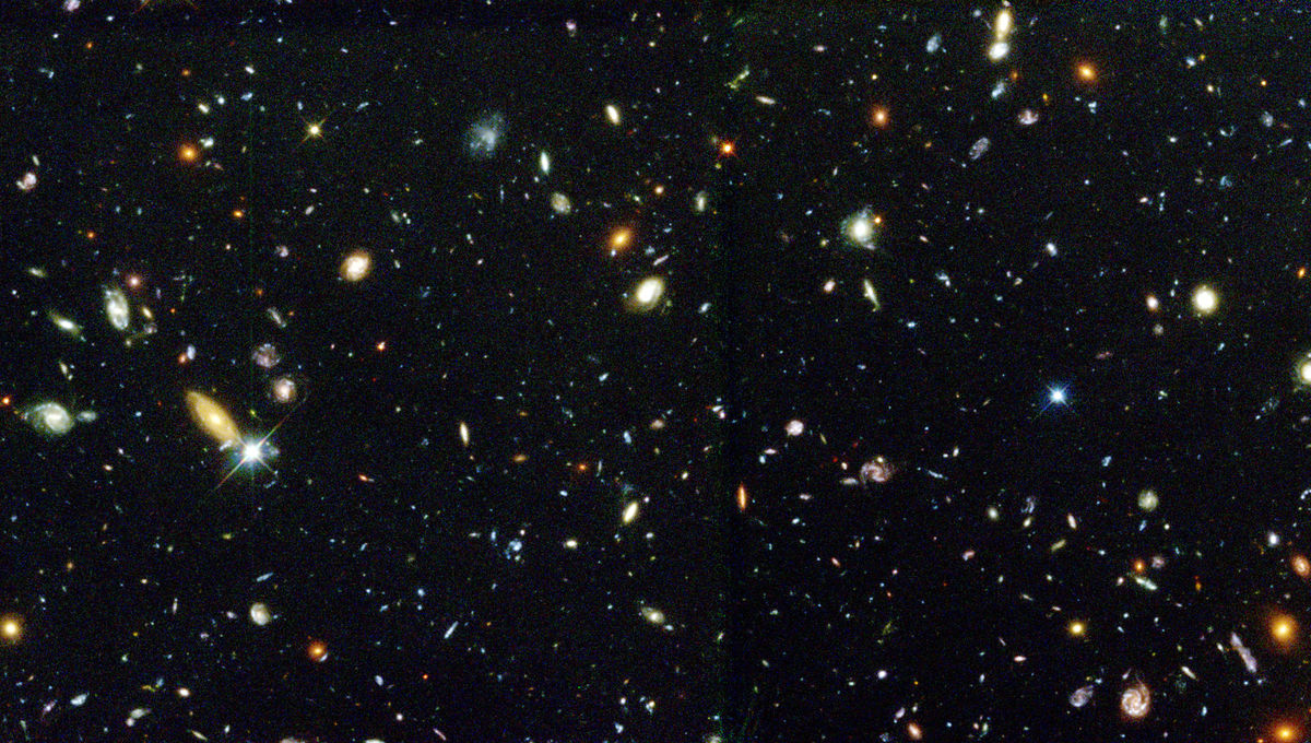 A portion of the Hubble Deep Field. Credit: R. Williams (STScI), the Hubble Deep Field Team and NASA/ESA