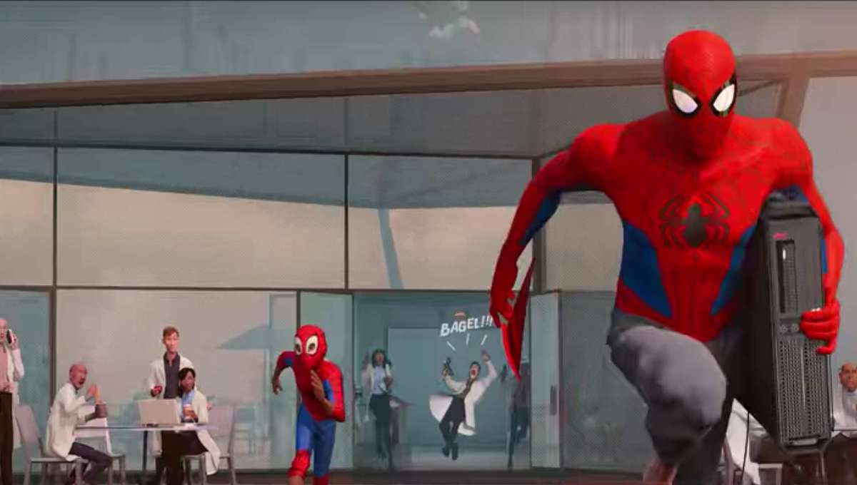 Into the Spider-Verse bagel guy hero