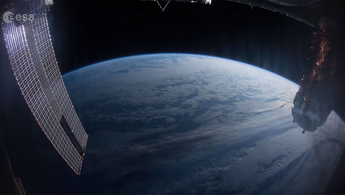 A view of the Earth from the International Space Station, part of a video celebrating the 20th anniversary of the launch of the first section. Credit: ESA/NASA