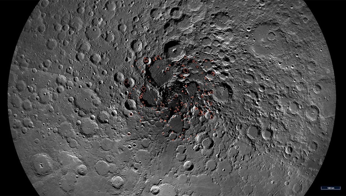 A map of the Moon's north pole showing areas where ice may lie. Credit:NASA/GSFC/Arizona State University
