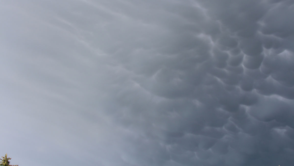 mammatus clouds over Colorado