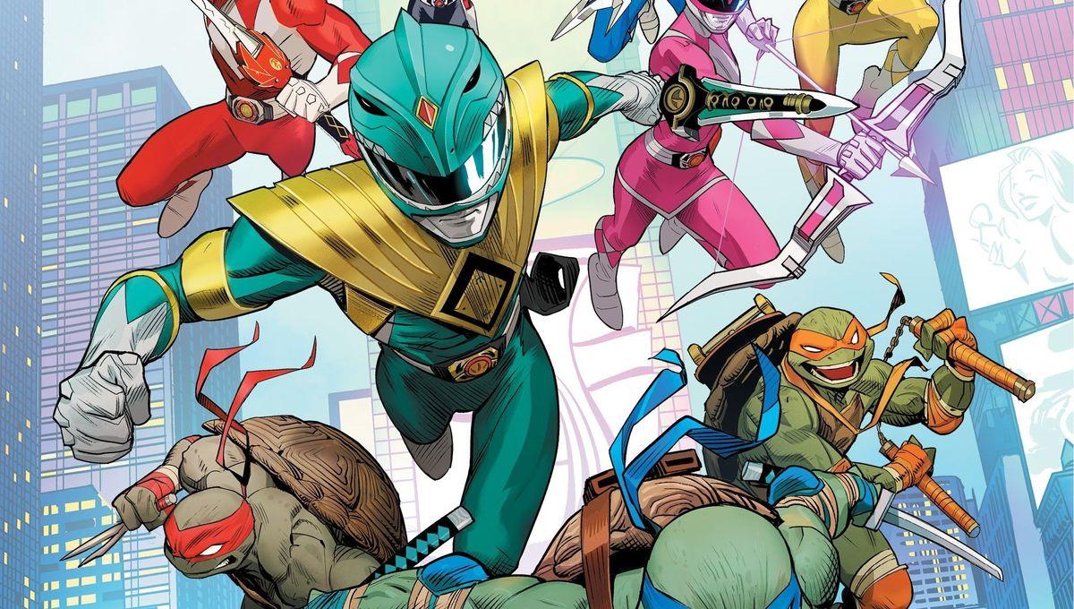 Mighty Morphin Powers Rangers Teenage Mutant Ninja Turtles cover