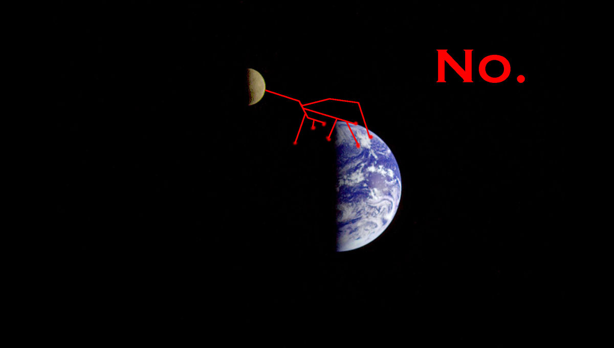 I don't think this is how eclipses work. Credit: NASA