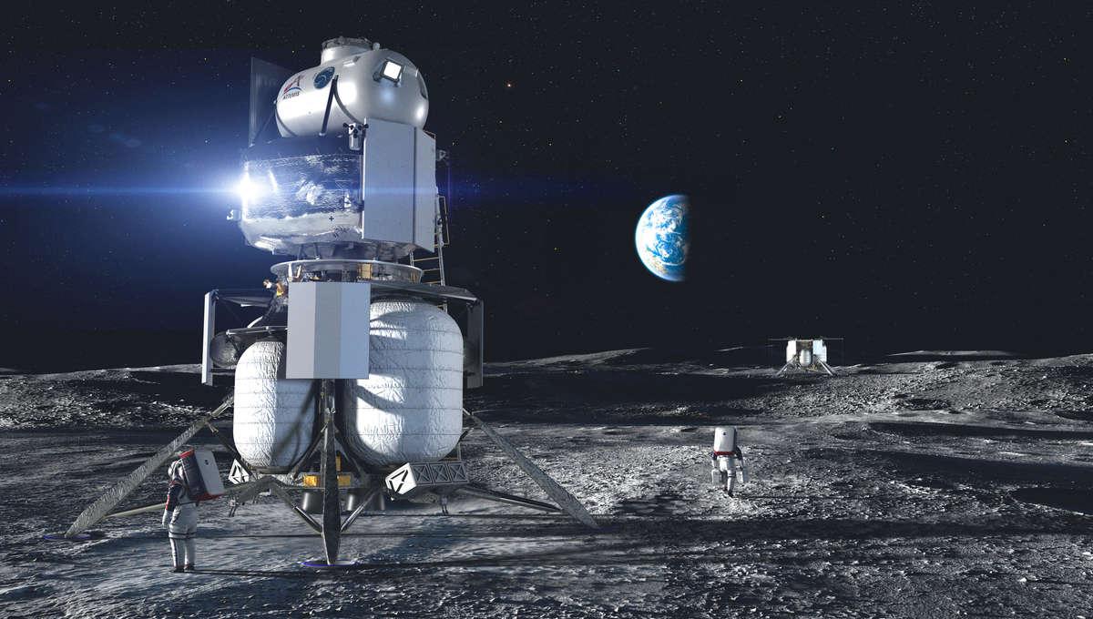 NASA Blue Origin lunar lander design