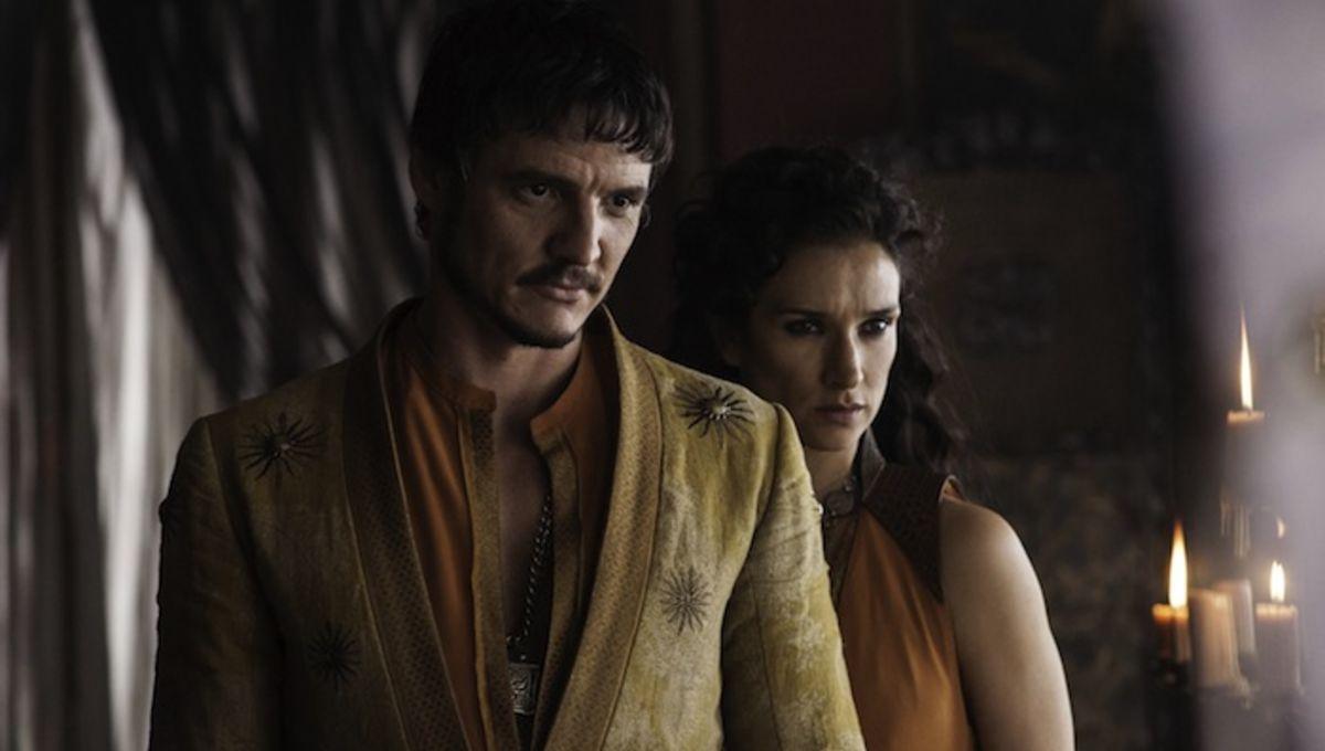 Pedro Pascal as Oberyn Martell, Indira Varma as Ellaria Sand_photo Helen Sloan_HBO.jpg