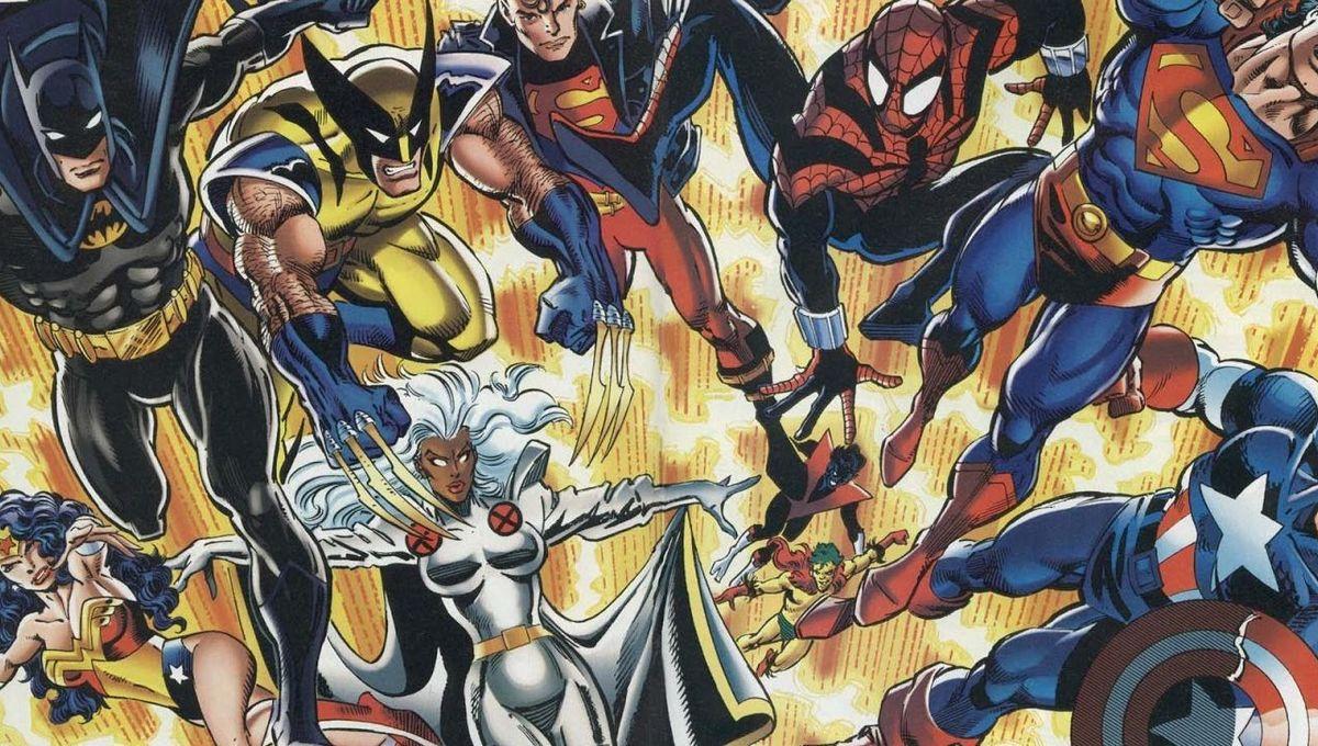 DC vs. Marvel #4 (Writers Ron Marz, Peter David, Artists Dan Jurgens, Claudio Castellini, Joe Rubenstein, Paul Neary)