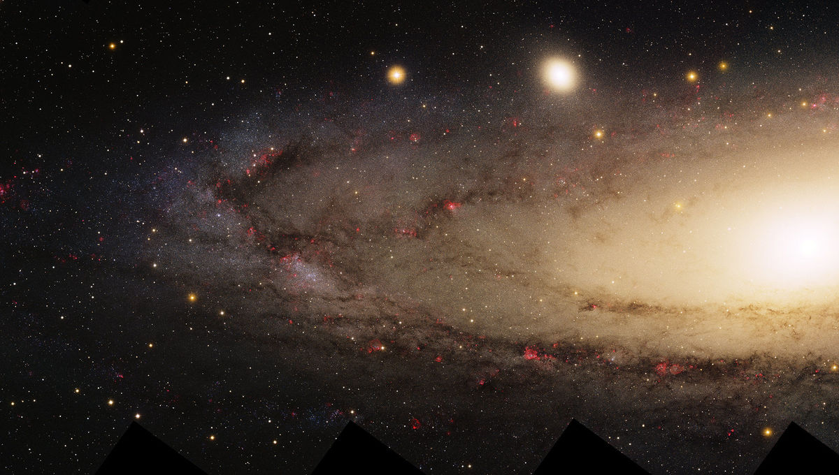 The magnificent Andromeda Galaxy along with its companion M32 (upper left of center). Credit: Local Group Survey Team and T.A. Rector (University of Alaska Anchorage)