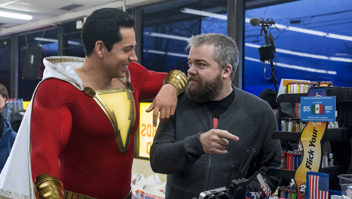 Shazam Zachary Levi and David F. Sandberg