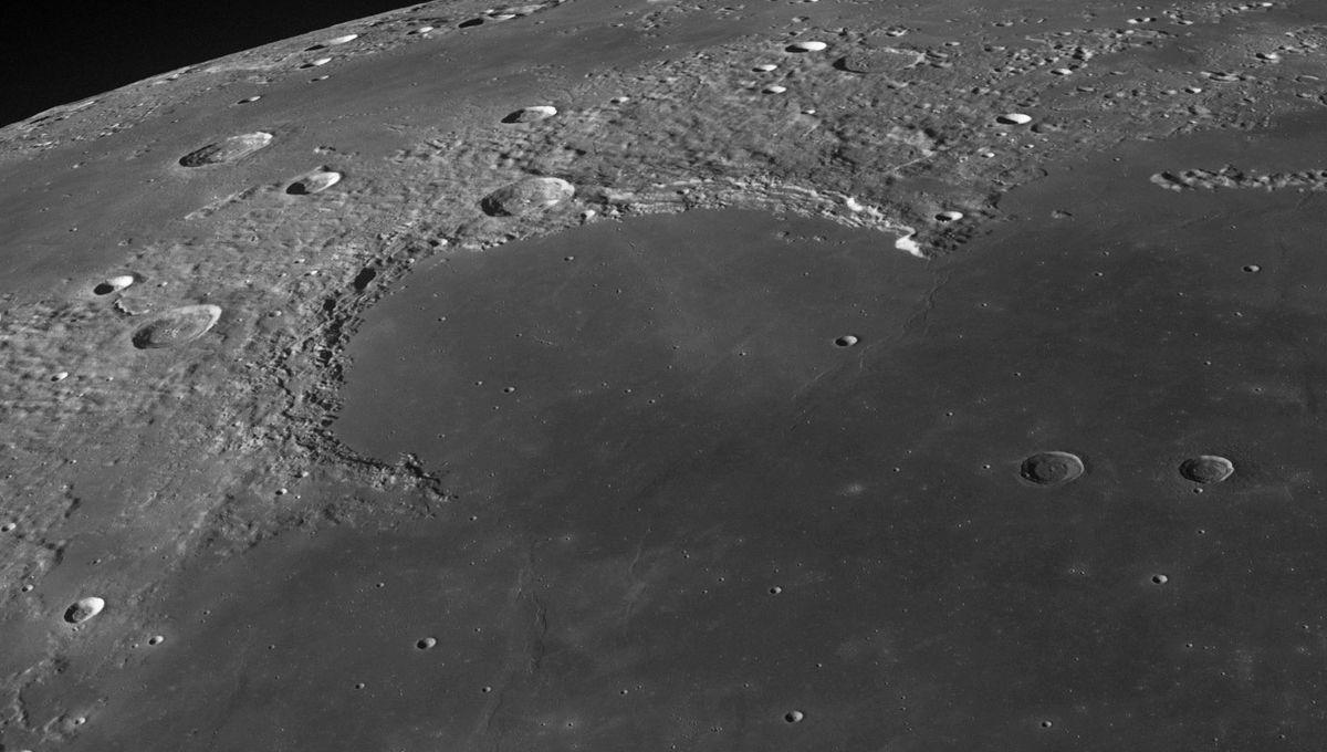 Sinus Iridum, a huge impact feature on the Moon. Credit: NASA/GSFC/Arizona State University / Seán Doran