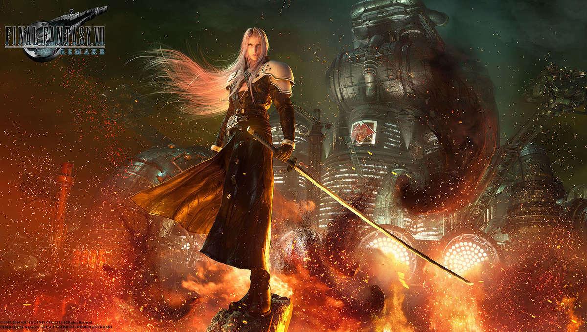 sephiroth Final Vantasy VII Remake hero