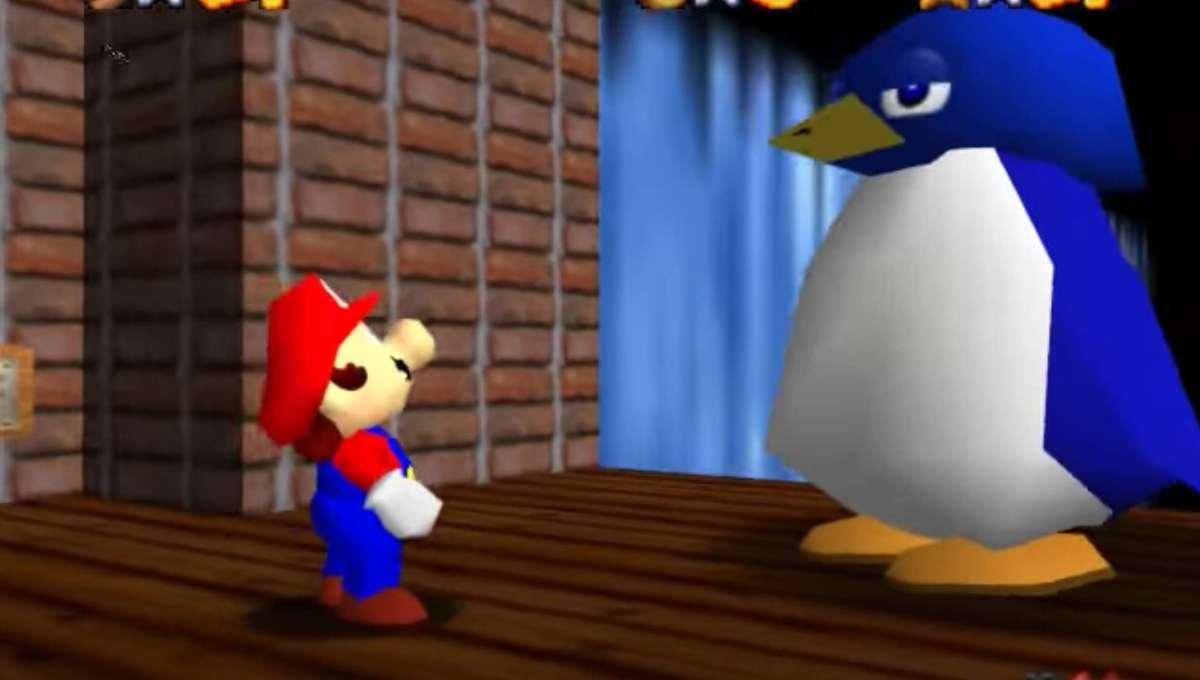 Super Mario 64 Penguin Race hero
