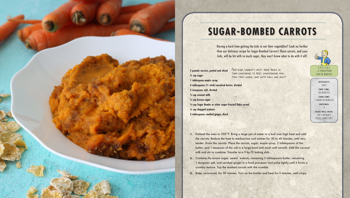 Fallout Cookbook Sugar-Bombed Carrots