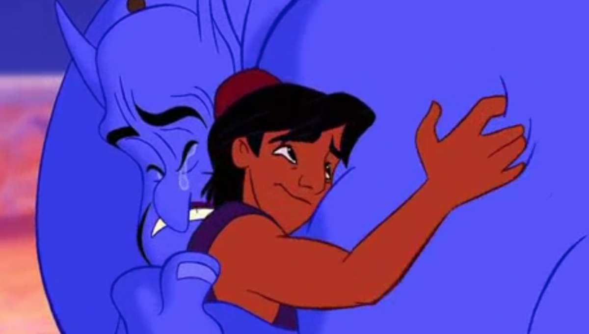 Aladdin_Genie and Al Hug