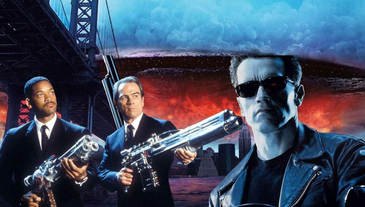 Best Sci-Fi Movies Header Terminator 2 Men in Black Independence Day