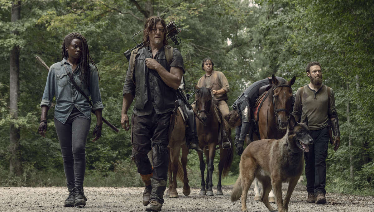 BTS, Danai Gurira as Michonne, Norman Reedus as Daryl Dixon, Ross Marquand as Aaron, Josh McDermitt as Dr. Eugene Porter- The Walking Dead