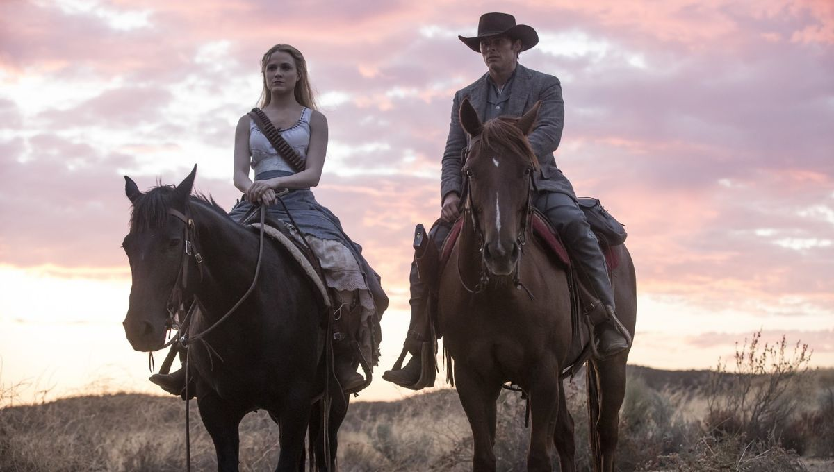 Westworld- Evan Rachel Wood (Delores) and James Marsden)
