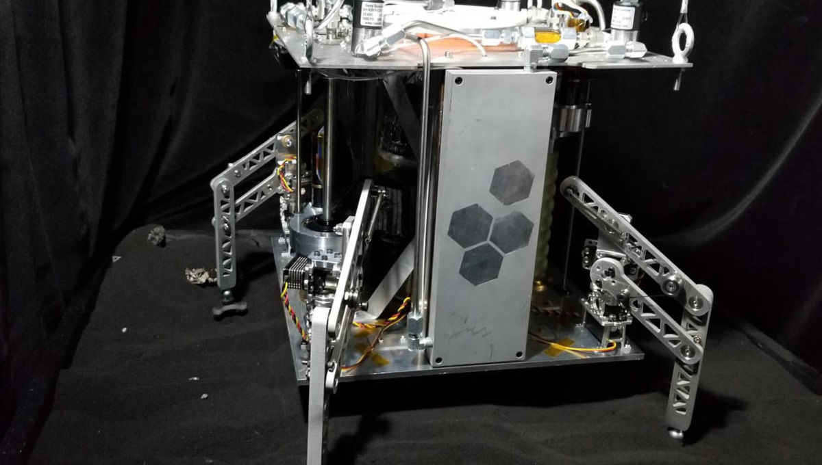 I swear, it even looks steampunk: The WINE prototype spacecraft mines and uses water for propellant. Credit: UCF/Honeybee Robotics