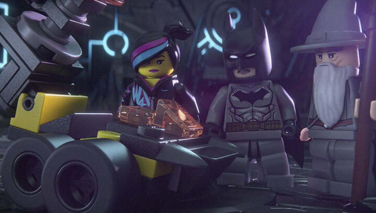 Wildstyle, Gandalf, and Batman in LEGO Dimensions