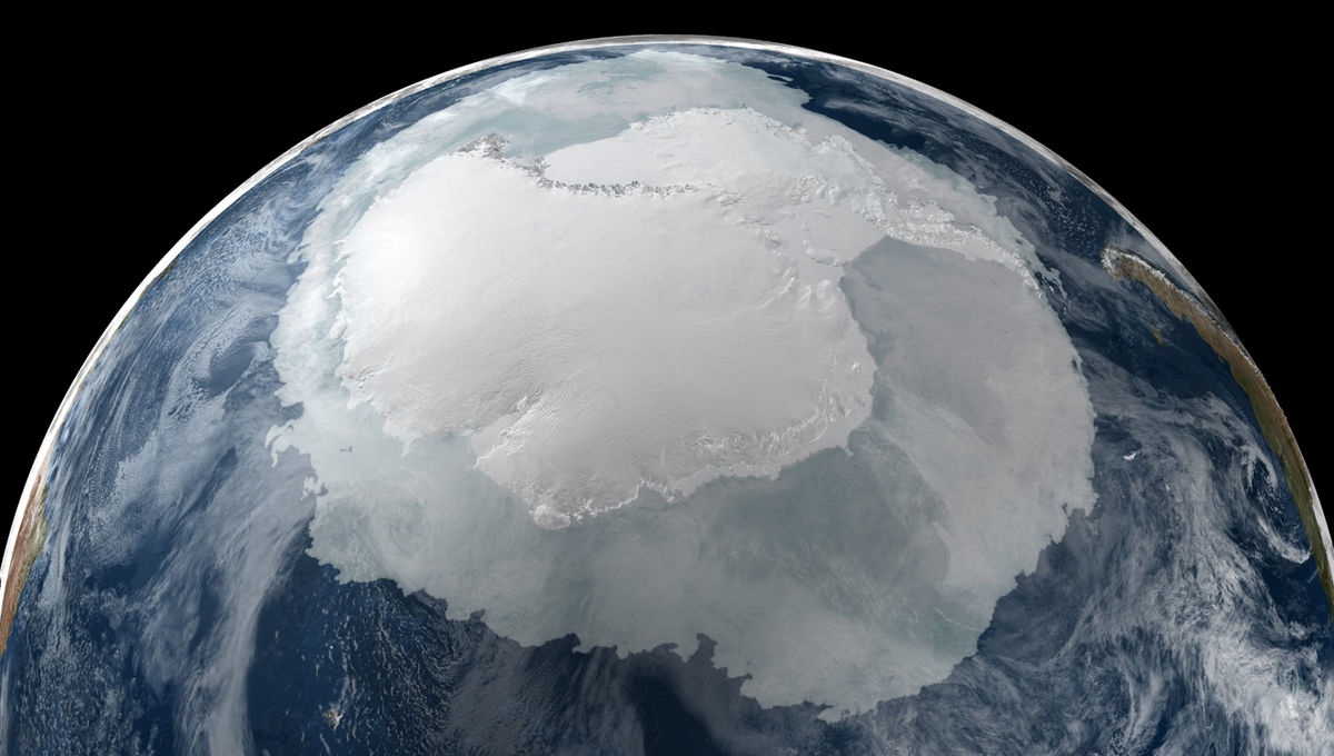 Despite appearances, this isn't really a photo of Antarctica from space.