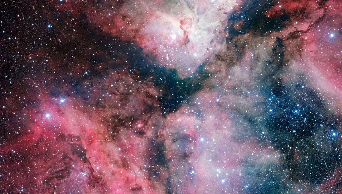The Carina Nebula seen by the VLT Survey Telescope. Credit:ESO. Acknowledgement: VPHAS+ Consortium/Cambridge Astronomical Survey Unit